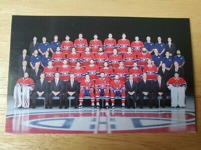 2019-2020 Montreal Canadiens Team Photo Postcard Habs