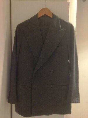 Bespoke Meyer & Mortimer DB Grey Flannel Suit Size 36/46R - Excellent condition