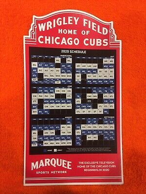 NEW 2020 Chicago Cubs Convention Official Marquee Game Schedule Magnet Tickets