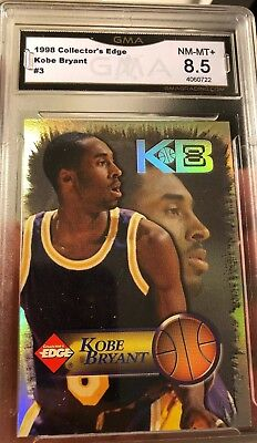 Rare Kobe Bryant Card Collectors Edge 1998 Insert Graded Hall Of Fame Lakers SP