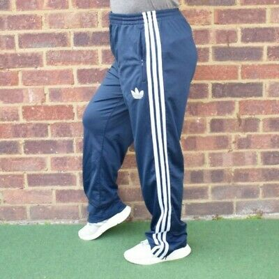 Vintage ADIDAS classic Navy Tracksuit Bottoms Activewear / Sportswear Unisex...