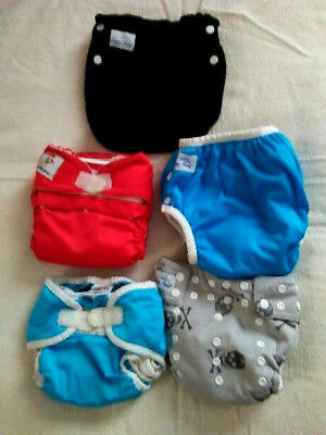 5 Happy Heinys-Ka Waii-Thirsties Soaker-Cloth Washable Baby Pul Diapers-Inserts