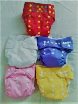5 Trend Lab-Alva Lot-Cloth Reusable Washable Baby Pul Diapers + Inserts-Girls