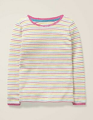 BNWT GIRL'S SUPERSOFT MULTI RAINBOW T-SHIRT by BODEN. 4-5 YEARS. RRP £16.00
