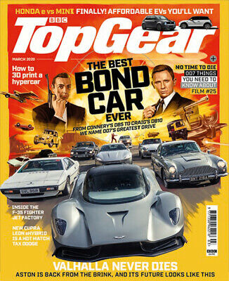 Top Gear Magazine - March 2020 - Best Bond Car Ever No Time to Die DB5 - 170 pgs