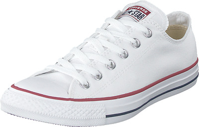 Mens White CONVERSE ALL STAR CHUCK TAYLOR Ox Optical Low Top Trainers UK 9.5
