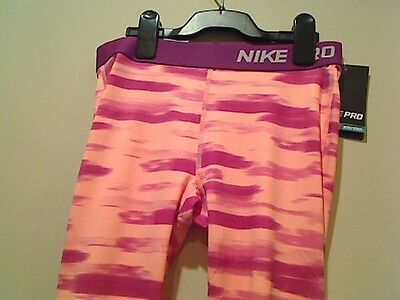 Nike Girls Dri Fit Pro Compression All Over Graphic Capris Tights Save 30% XL