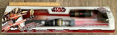 Hasbro Clone Wars 2009 Electronic Lights & Sounds Duel Action Lightsaber-NEW