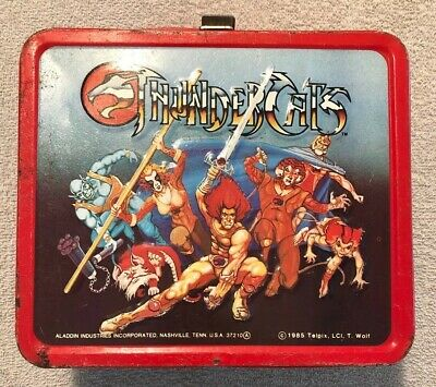 Vintage THUNDERCATS Aladdin Industries Metal Lunchbox - 1985