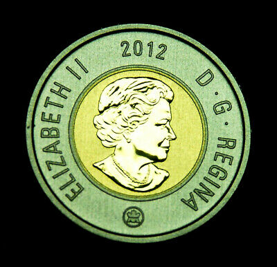 "2012 $2 specimen ""toonie"" - uncirculated from a specimen set"