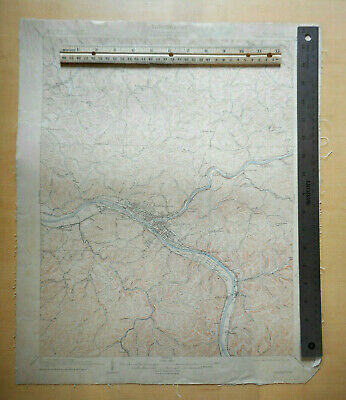 1909 1914 CHARLESTON WV USGS topographic map 15 minute quad