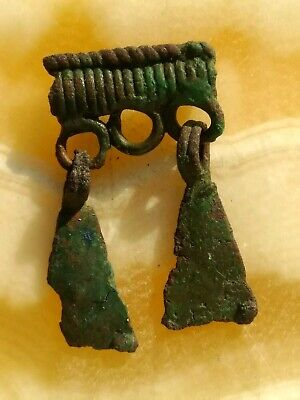 Ancient viking copper amulet pendant 10-12 century.