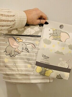 Primark Disney Dumbo Baby Throw And Muslin Set Newborn Burp Cloths Unisex