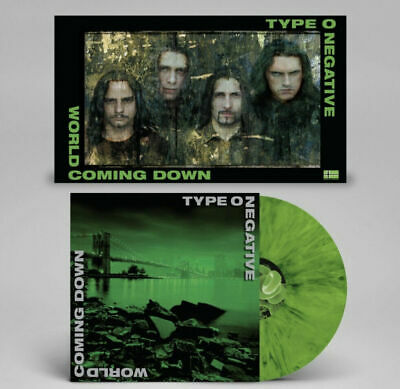 TYPE O NEGATIVE - World Coming Down Green & Black Colored Vinyl 2-LP New +Poster
