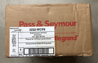 8 Boxes Of 10 Pass & Seymour 3232-Wcp8 Duplex Outlets 15 Amp / 125 V 80 Outlets