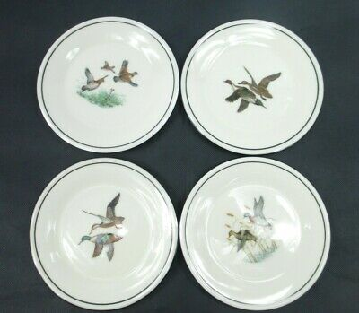 "Lenox Special 6 1/2"" Plates Ducks Birds Flying Collectors Plate Set of Four"