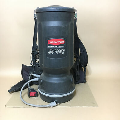 Black Rubbermaid BP6Q 1868433 Commercial Backpack Vacuum Cleaner
