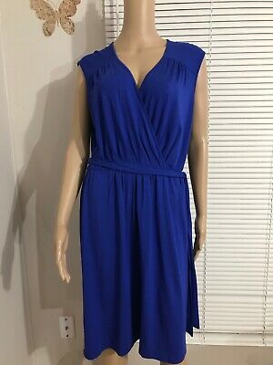 NEW PHILOSOPHY Casual Dress Republic Clothing  Women's V-neck  Cobalt Blue