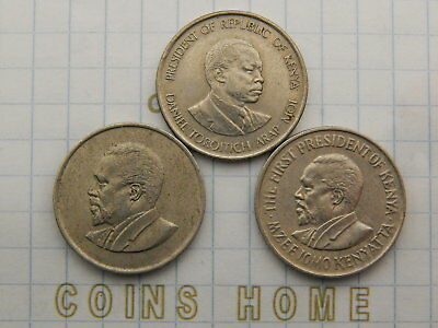 Coins Home Lot 3 circulated 50 cents Kenya 3 types Set#5E75 Uncertified Ungrade
