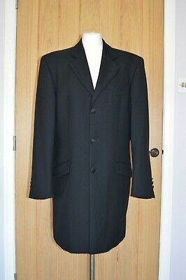 "Mens Black 100% Wool Prince Edward 2 Piece Suit Wedding / Formal. 40""/32"""