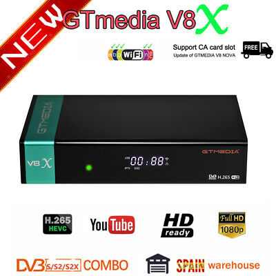 Full HD Gtmedia v8 nova DVB-S2 Satellite Receiver Freesat v8  H.265 Built Wifi