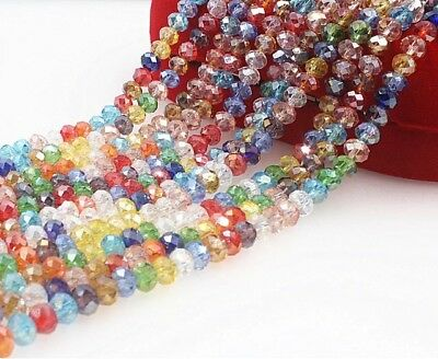 20 Mixed Swarovski Like 3x4mm Beads.shinny In The Light 👍👍