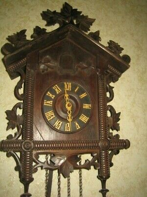 Antique  Julius  Hentschel Black Forest Cuckoo Clock