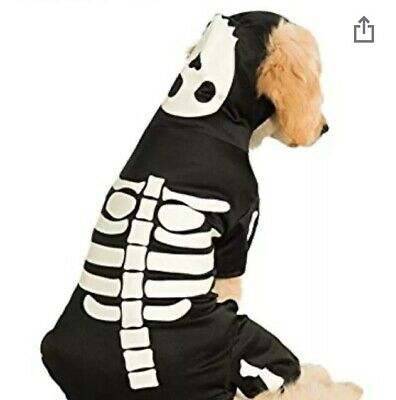 Rubies Skeleton Hoodie Fancy Dress Costume Outfit Dog Halloween Pet Puppy S
