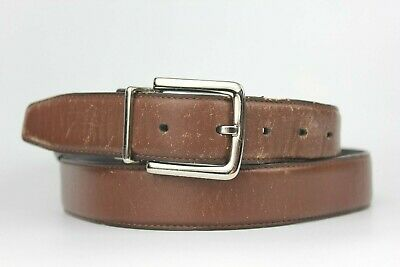 COLE BROTHERS Black Leather Belt (Touch Adjustable, Size