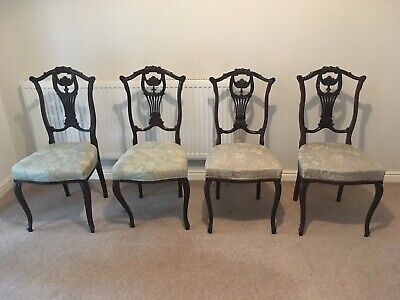 Set of Four Victorian / Edwardian Dining Chairs