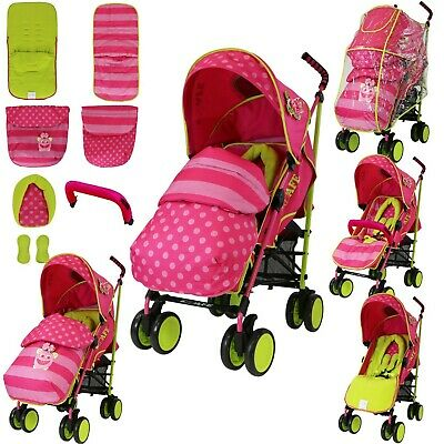 Isafe Girls Baby Toddler Stroller Buggy Pushchair Includes Raincover & Footmuff
