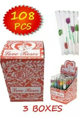 love rose with a glass tube (3packs) 108 tubes total