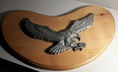 "American Bald Eagle Plaque 24"" Metal Wood Vintage Patriotic USA Art Original"