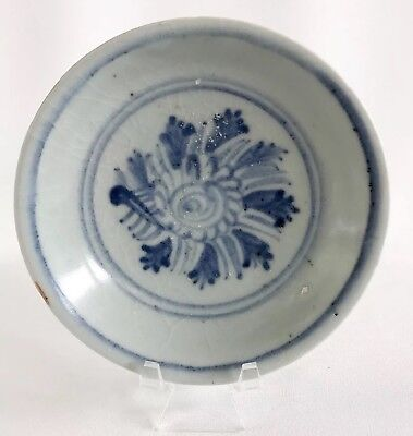 Chinese Hongzhi Ming Dynasty 15th Century Blue White Small Dish