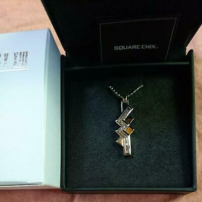 FINAL FANTASY XIII 13 Silver Pendant / Necklace LIGHTNING Unused From Japan