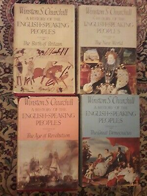 """Winston Churchill """"A History Of The English Speaking Peoples""""4 Hardback Book Set"""