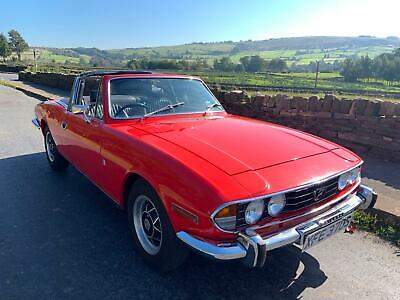 Triumph Stag 3.0 convertible classic fully restored orange