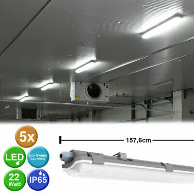 Set of 5 LED Tub Ceiling Lights Daylight Industrial Ceiling Spotlights Lamps