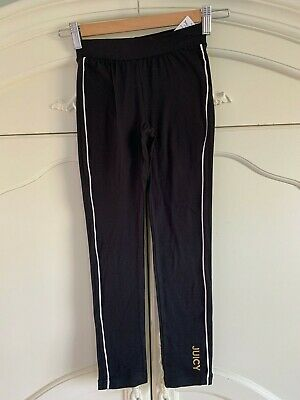 Girls Juicy Couture black/gold jogging soft bottoms Trousers  7 yrs