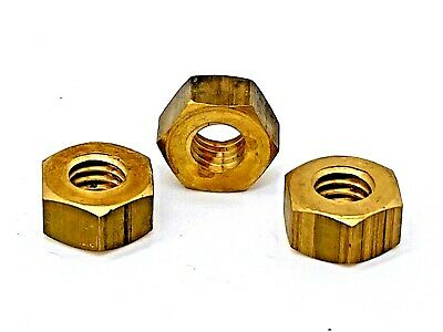 BSW Whitworth Brass Full Nuts 1/8 3/16 1/4 5/16 3/8 7/16 5/8 3/4 7/8 1 11/8 11/4