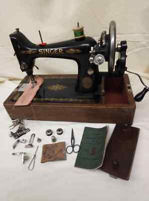 Semi-Industrial Singer 99K Handcrank 1918 Sewing Machine, SERVICED,sews LEATHER
