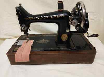 Semi-Industrial Singer 99K Handcrank 1927 Sewing Machine, SERVICED,sews LEATHER