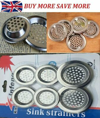 CHROME PLUG STRAINER Bath/Bathroom Sink Shower Drain Filter Cover Hair Catcher