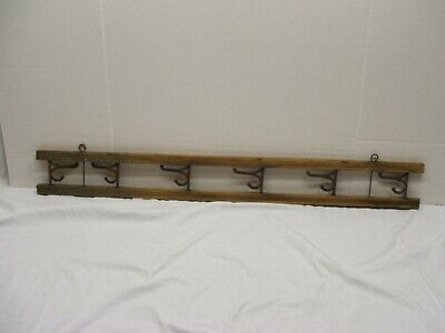 Vintage Wall Hook Swivel Coat Hanger Wood frame metal hangers