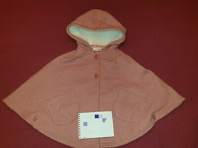 Pumpkin Patch Girl's Hooded poncho  Jacket Coat Size 7-8 years