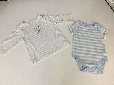 M&S Marks And Spencer Baby Boys Bundle Age 0-3 Months Top T Shirt Vest Romper