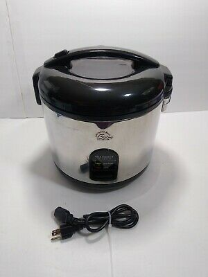 Wolfgang Puck Bistro Deluxe 10 Cup Electric Rice Cooker Portable Food Warmer