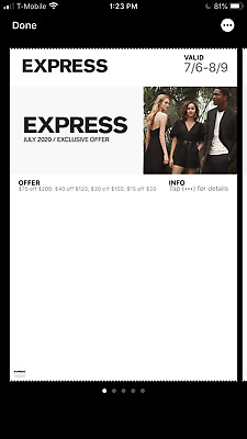 Express $40off $100/$75 off $200 Valid NOW-3/22/2020~Delivery 24 hrs