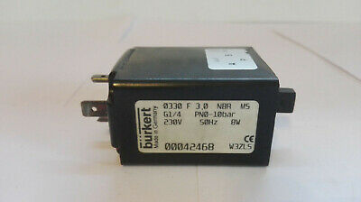 Bürkert Solenoid Valve, Type: 0330F 3,0 NBR M5 (00042468) Good Condition