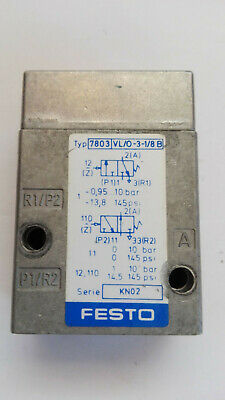 Festo Pneumatic Valve nr: 7803, Type: Vl / O-3-1/8-B Good Condition